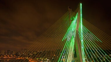 neon green bridge